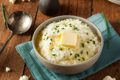 Homemade Organic Mashed Cauliflower Royalty Free Stock Photos