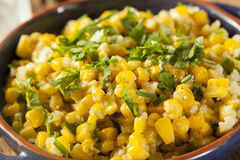 Homemade Organic Mexican Corn Dish Stock Photos