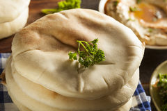 Homemade Organic Pita Bread Royalty Free Stock Photography