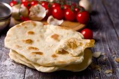 Homemade Organic Pita Bread Stock Images