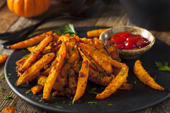 Homemade Organic Pumpkin French Fries Stock Images