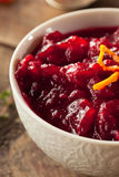 Homemade Organic Red Cranberry Sauce Royalty Free Stock Photography