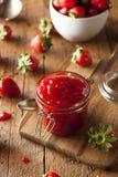 Homemade Organic Strawberry Jelly Stock Image