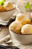 Homemade Organic Vanilla Ice Cream Royalty Free Stock Photos