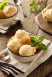 Homemade Organic Vanilla Ice Cream Stock Photo