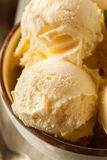 Homemade Organic Vanilla Ice Cream Stock Images
