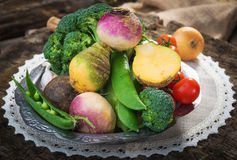 Homemade organic vegetables Stock Photos