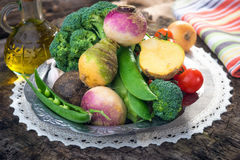 Homemade organic vegetables Royalty Free Stock Image