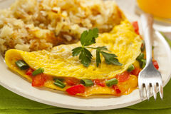 Homemade Organic Vegetarian Cheese Omelette Royalty Free Stock Photography