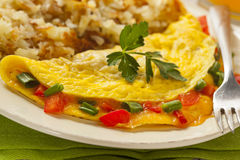 Homemade Organic Vegetarian Cheese Omelette Stock Photography