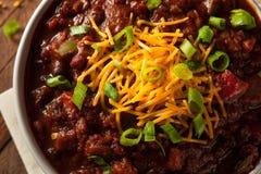 Homemade Organic Vegetarian Chili Stock Photo