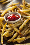 Homemade Oven Baked French Fries Stock Photo