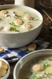 Homemade Oyster Stew with Parsley Royalty Free Stock Image