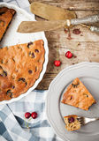 Homemade paleo cherry pie Royalty Free Stock Photo