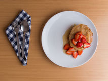 Homemade pancake with strawberry Stock Image