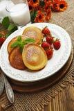 Homemade pancake with sugar powder