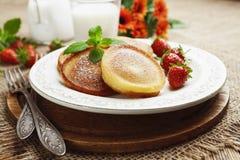 Homemade pancake with sugar powder Stock Images