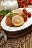 Homemade pancake with sugar powder Stock Image