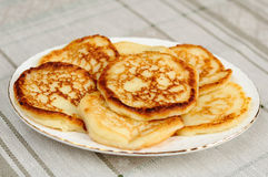 Homemade pancakes with almonds Stock Image