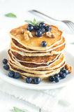 Homemade pancakes with blueberry Royalty Free Stock Photos
