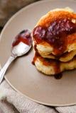 Homemade pancakes Stock Photos