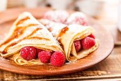 Homemade pancakes Royalty Free Stock Photos