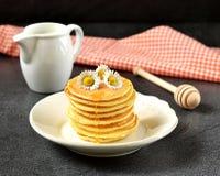 Homemade pancakes with honey Stock Image