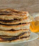 Homemade pancakes with honey Stock Photo