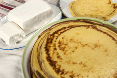 Homemade pancakes Stock Images
