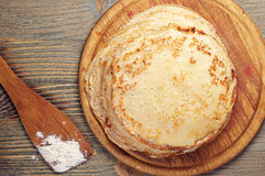 Homemade pancakes Royalty Free Stock Images