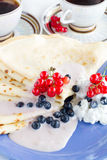 Homemade pancakes Stock Photo