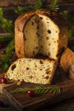 Homemade Panettone Fruit Cake Stock Photos