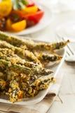Homemade Panko Breaded Asparagus Stock Photo