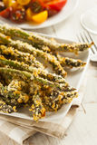 Homemade Panko Breaded Asparagus Royalty Free Stock Image