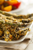 Homemade Panko Breaded Asparagus Royalty Free Stock Image