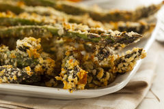 Homemade Panko Breaded Asparagus Stock Image