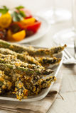 Homemade Panko Breaded Asparagus Royalty Free Stock Photos