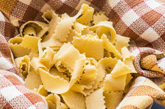 Homemade pappardelle Royalty Free Stock Photos