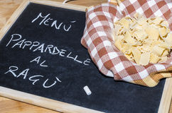 Homemade pappardelle Royalty Free Stock Images