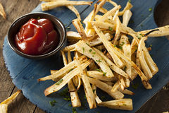 Homemade Parsley Root French Fries Stock Photography