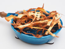Homemade parsnip chips Stock Photo