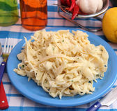 Homemade pasta with cheese Royalty Free Stock Image