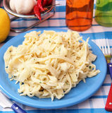 Homemade pasta with cheese Royalty Free Stock Images