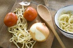 Homemade pasta Stock Photos