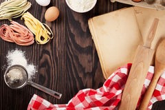Homemade pasta cooking Royalty Free Stock Photography