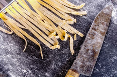 Free Homemade Pasta Dough Is Being Processed Stock Photography - 51930172