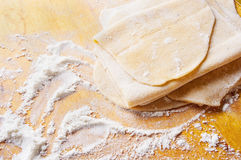 Free Homemade Pasta Dough Is Being Processed Royalty Free Stock Photography - 51932807