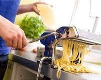 Homemade Pasta Fettuccine Deta Stock Image