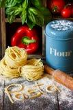 Homemade pasta. Royalty Free Stock Photos