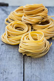 Homemade Pasta. Fresh Homemade Pasta on the wooden table Royalty Free Stock Images